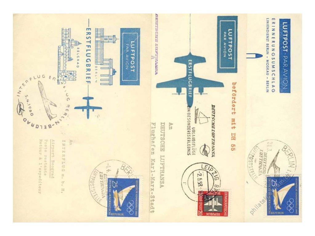 1958/60, 3 ks celistvostí, 1.lety