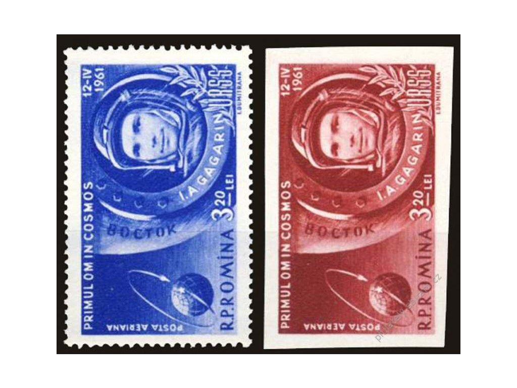 1961, 3.20L Gagarin, MiNr.1963,1964, **