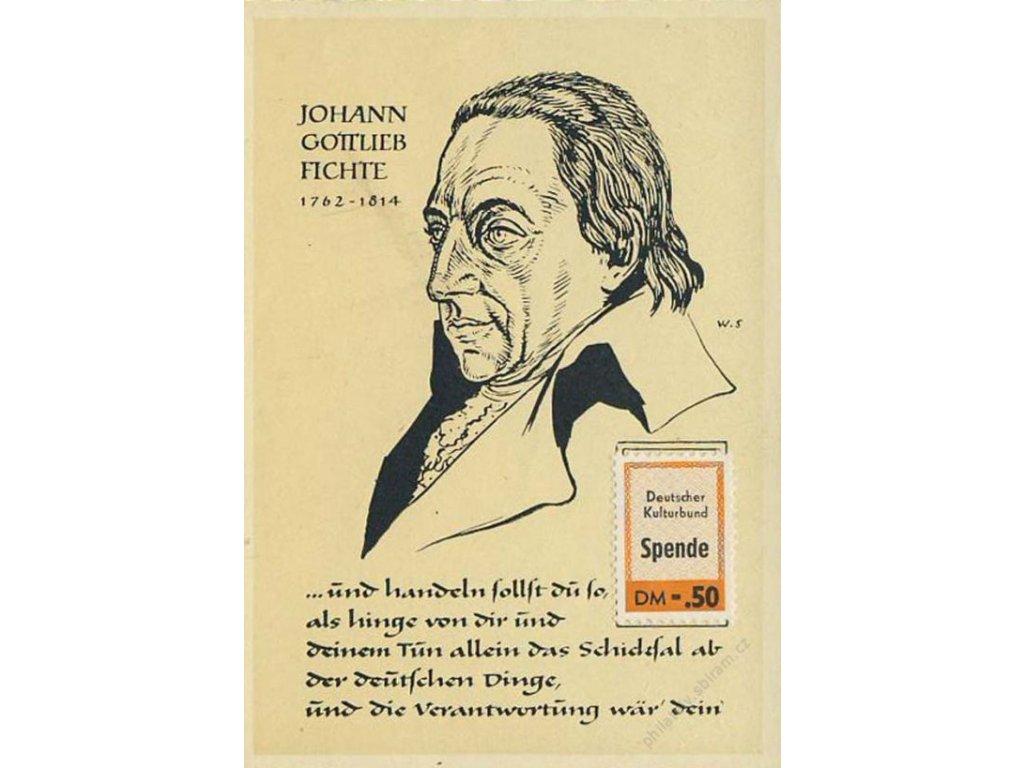 1964, Deutscher Kulturbund Spende, propagační nálepka