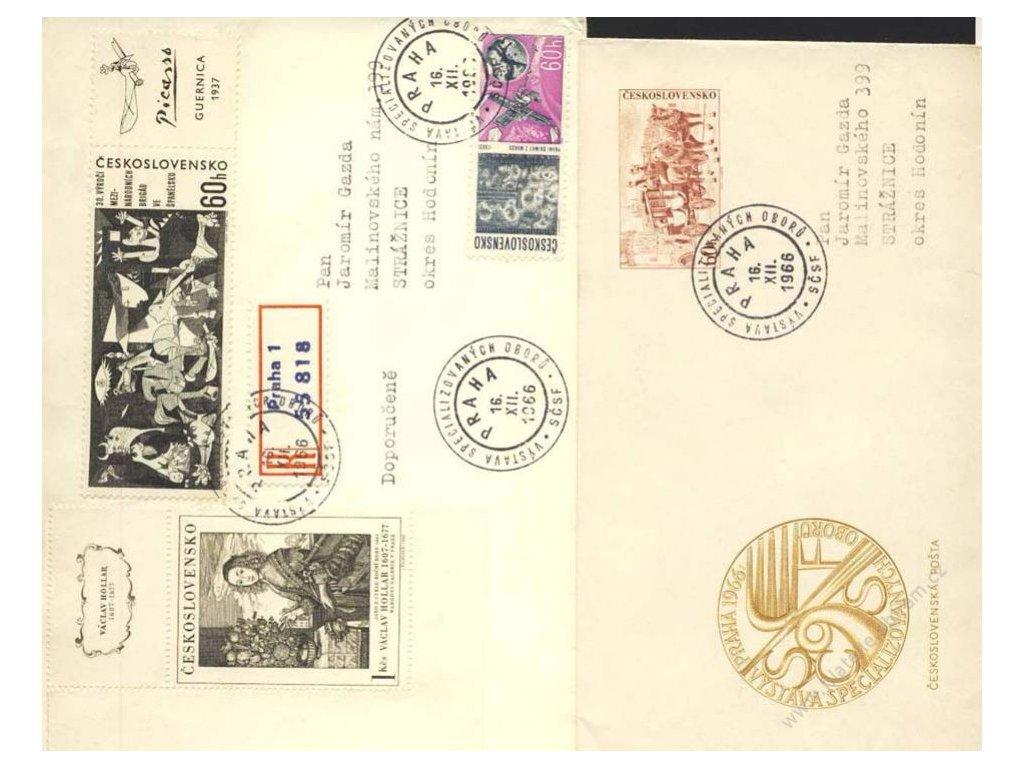 1966, Praha, Výstava specializovaných oborů, 2 kusy celistvostí