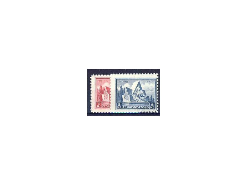1935, 1-2Kč Arras, série, Nr.289-90, **