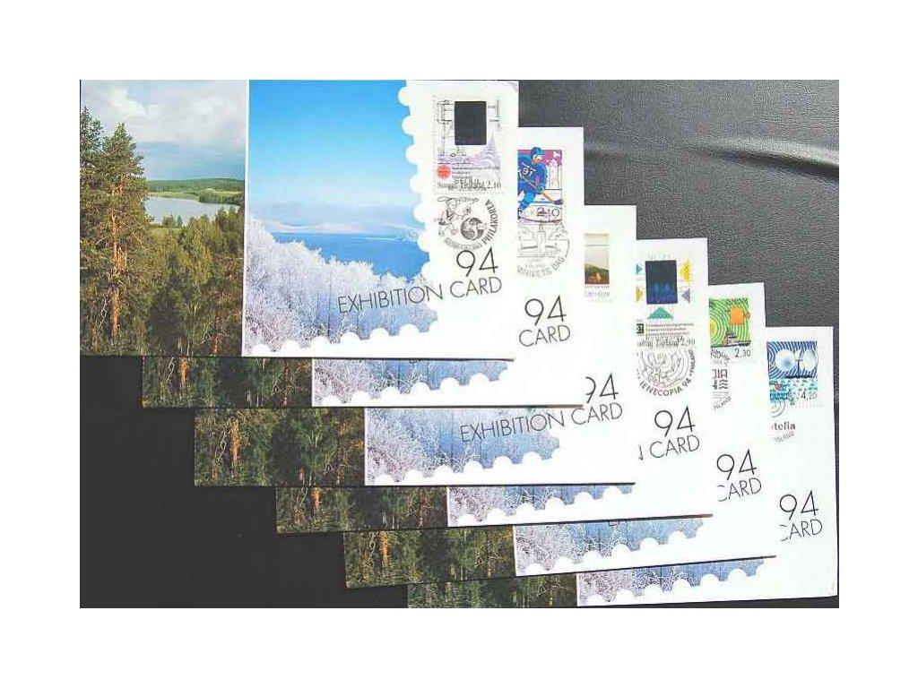 1994, 6 kusů výstavních karet s pamětními razítky