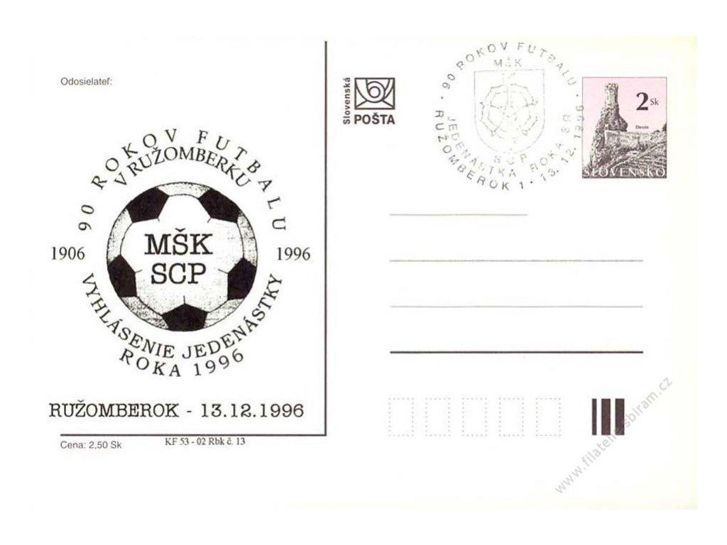 1996, 90 rokov futbalu v Ružomberku, privátní