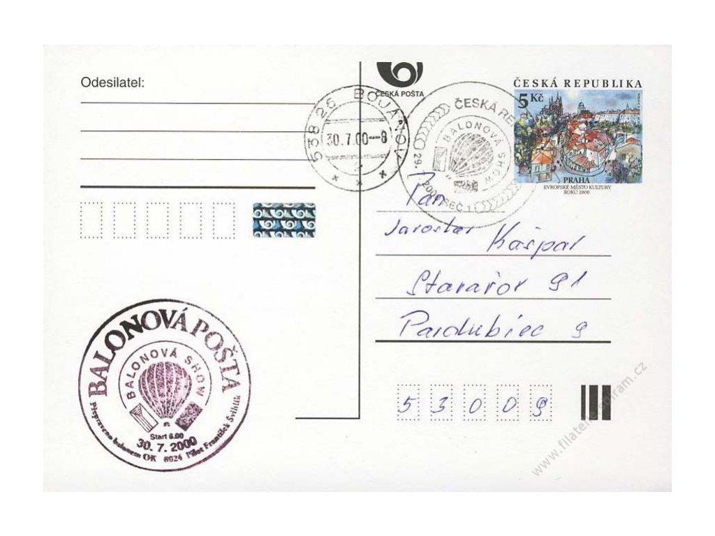 2000, DR Seč, Balonová pošta, dopisnice