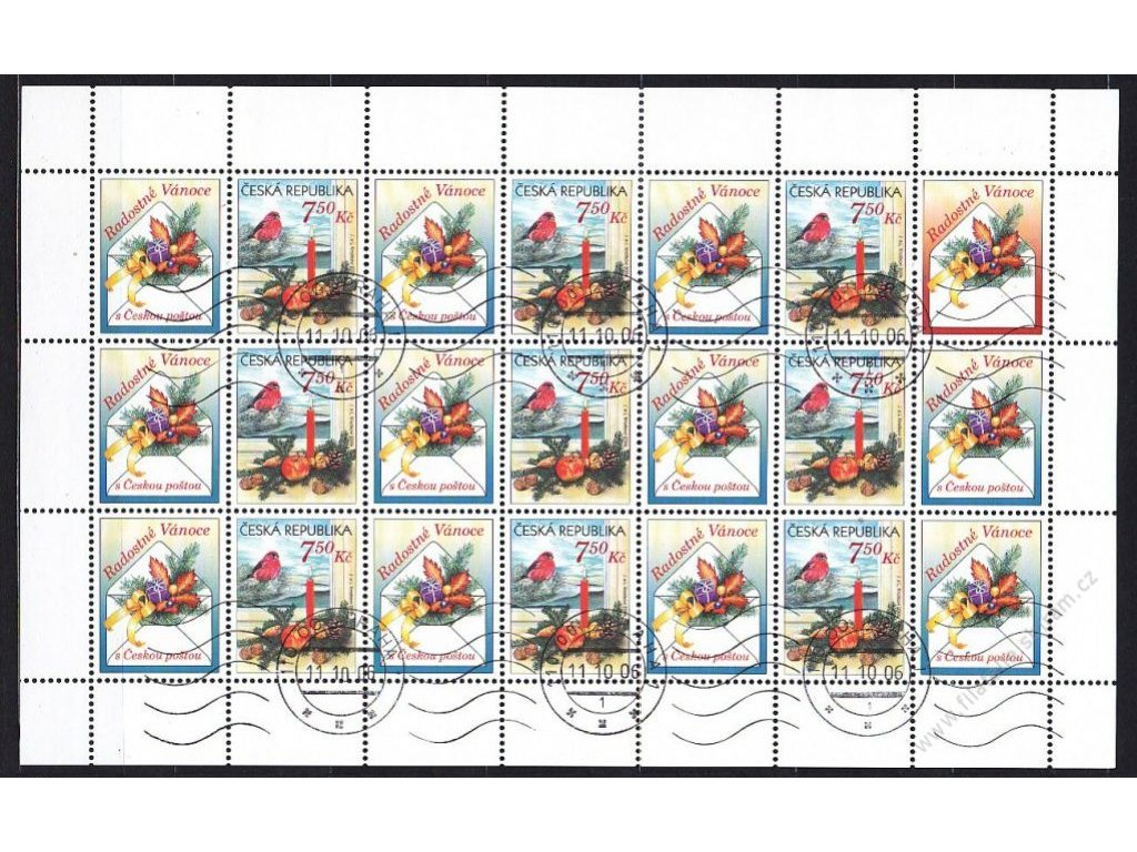 2006, 7.50Kč Vánoční blahopřání, PL, Nr.PL493, váleček