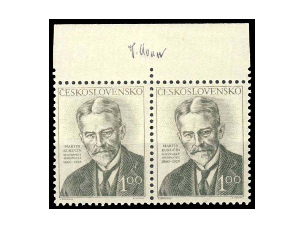 Housa, 1953, podpis na známkách, **