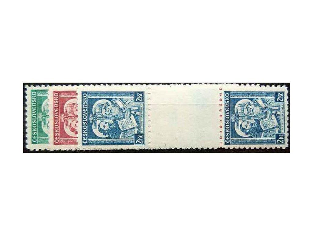 1935, 50h-2Kč meziarší sv.Metoděj, meziarší, Nr.292-4, **