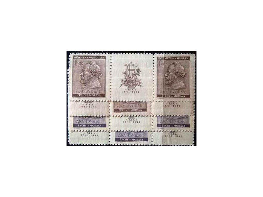 1941, 60h-1.20K Dvořák, Nr.62-3, VK-8,14, **