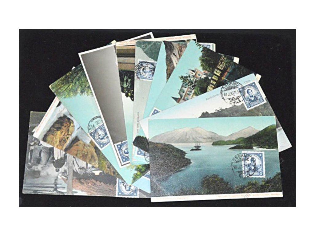 Chile, 1927, 11 ks pohlednic vyfr. na líci