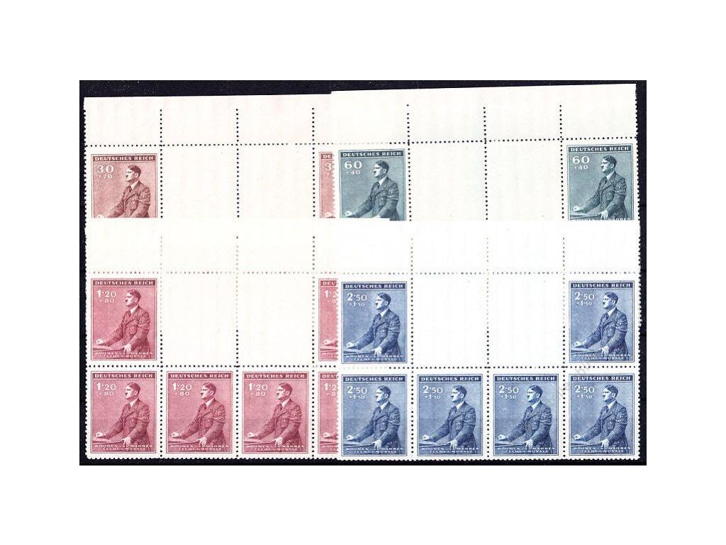 1942, 30h-2.50K Hitler, podkovy, horní okraj, VK-7, Nr.74-7, **