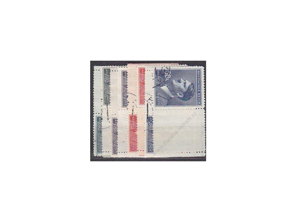 10-50K Hitler, L+P kupony, Nr.96-9, razítkované