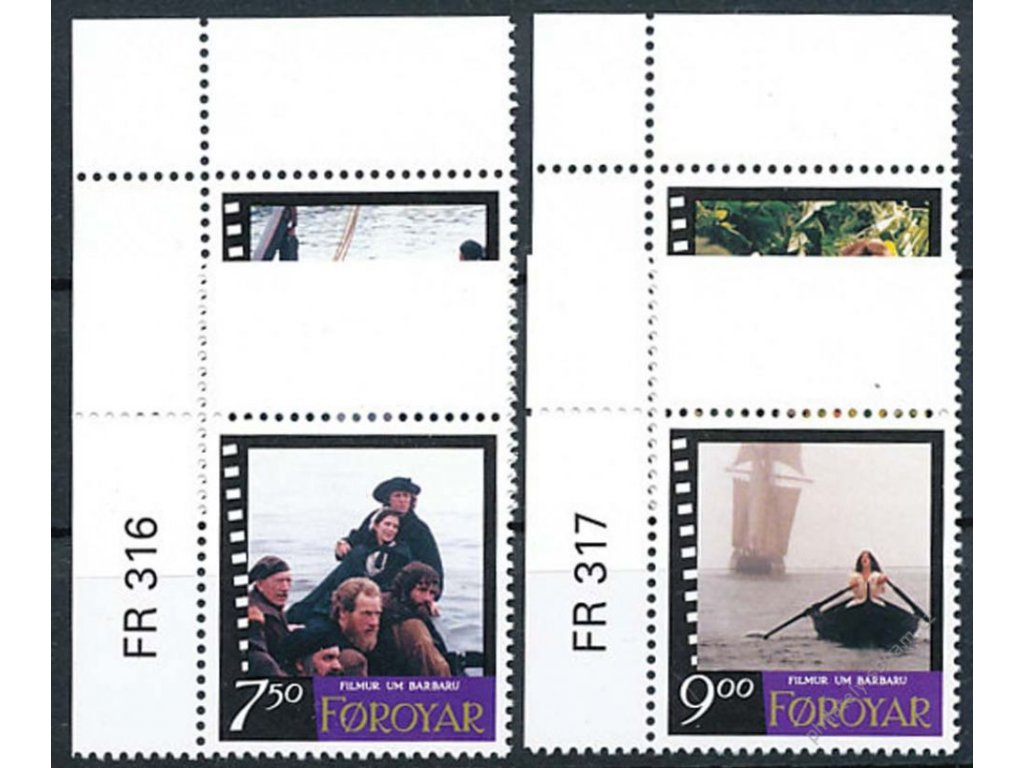 Färöer, 1997, série Film, MiNr.322-25, **