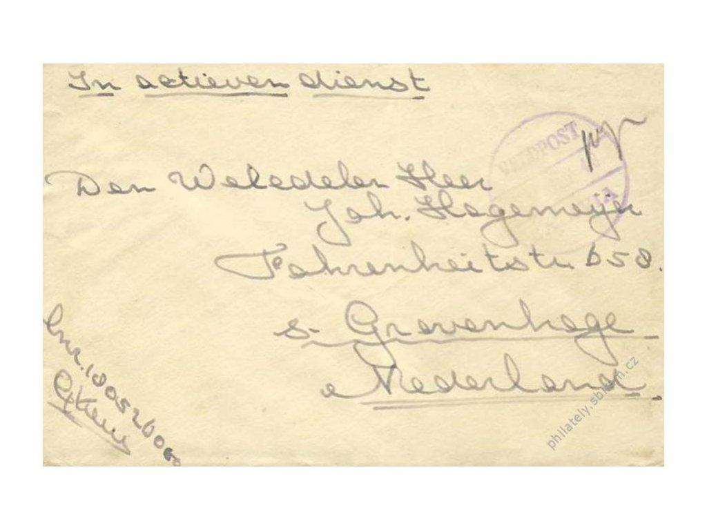 Jáva, 1940, dopis PP zaslaný z Jávy do Holandska