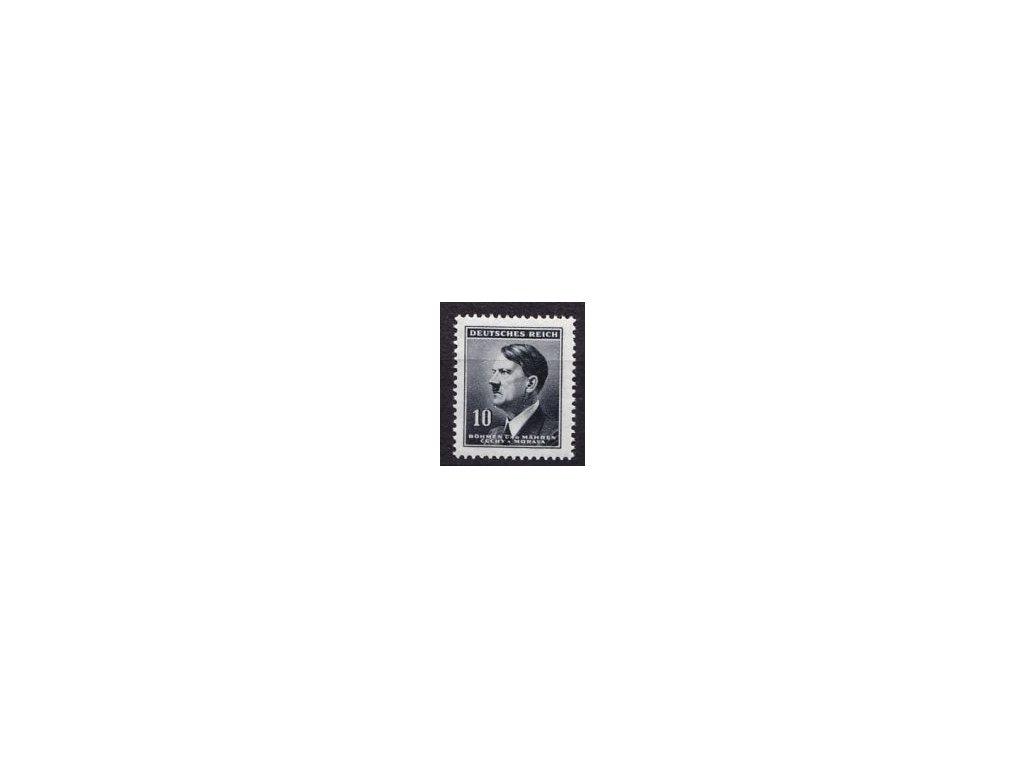 1942, 10h Hitler, tenký průsvitný papír, Nr.78, **