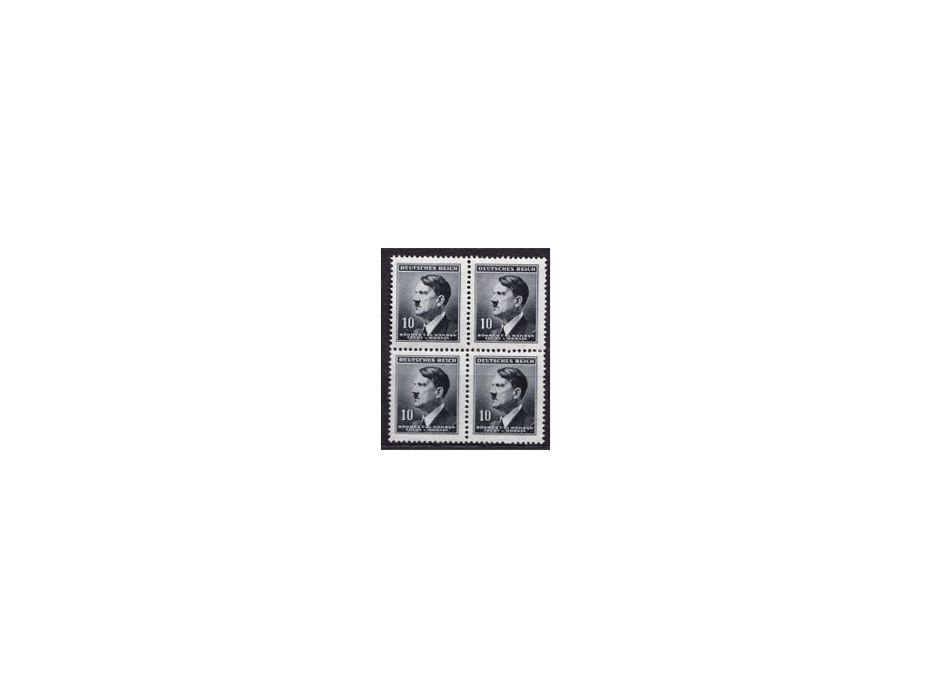 A-1942, 10h Hitler, tenký průsvitný papír, 4blok, Nr.78, **