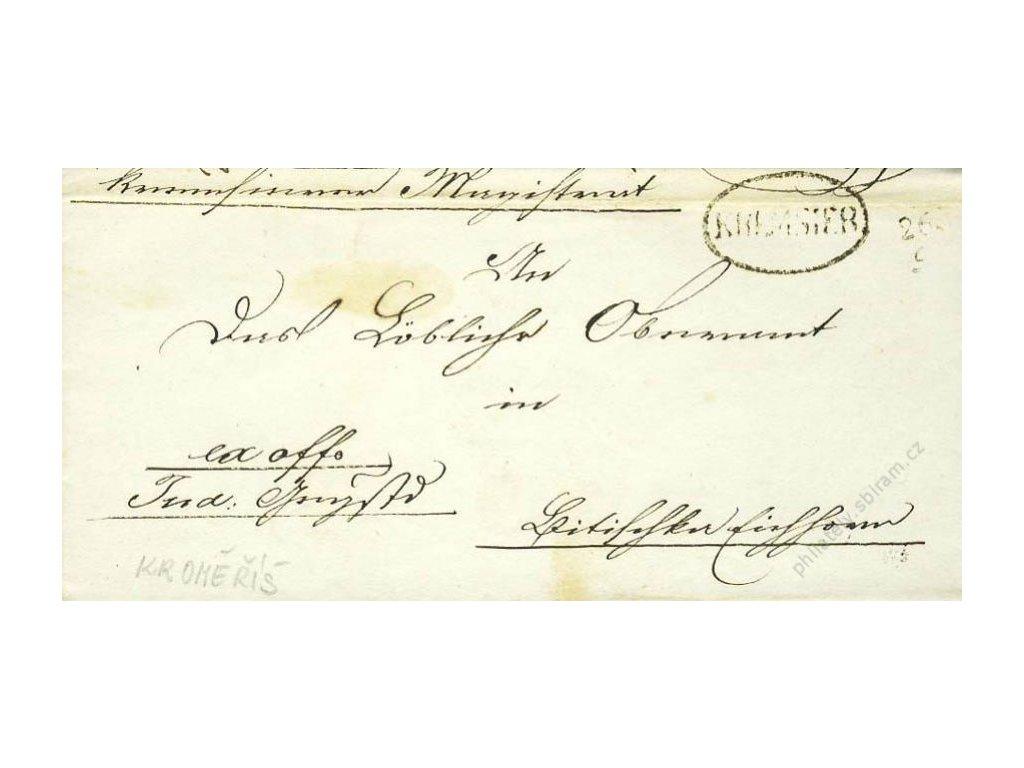 Kremsier, dopis z roku 1849, stopy stáří