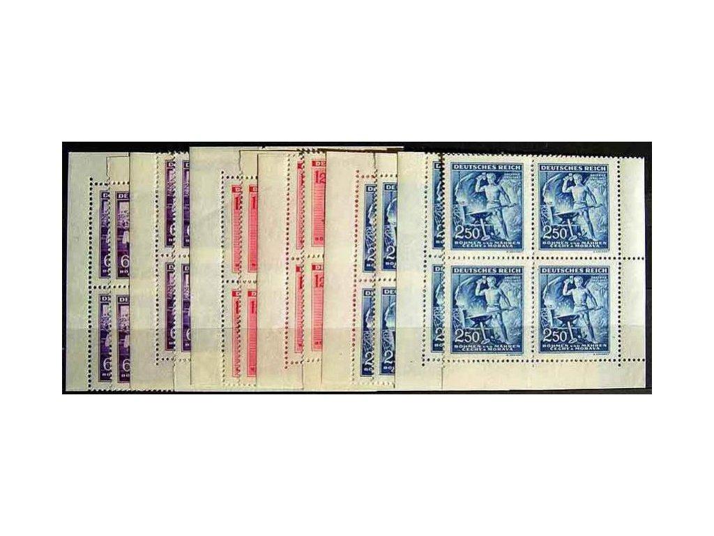 1943, 60h-2.50K Wagner, rohová miniatura