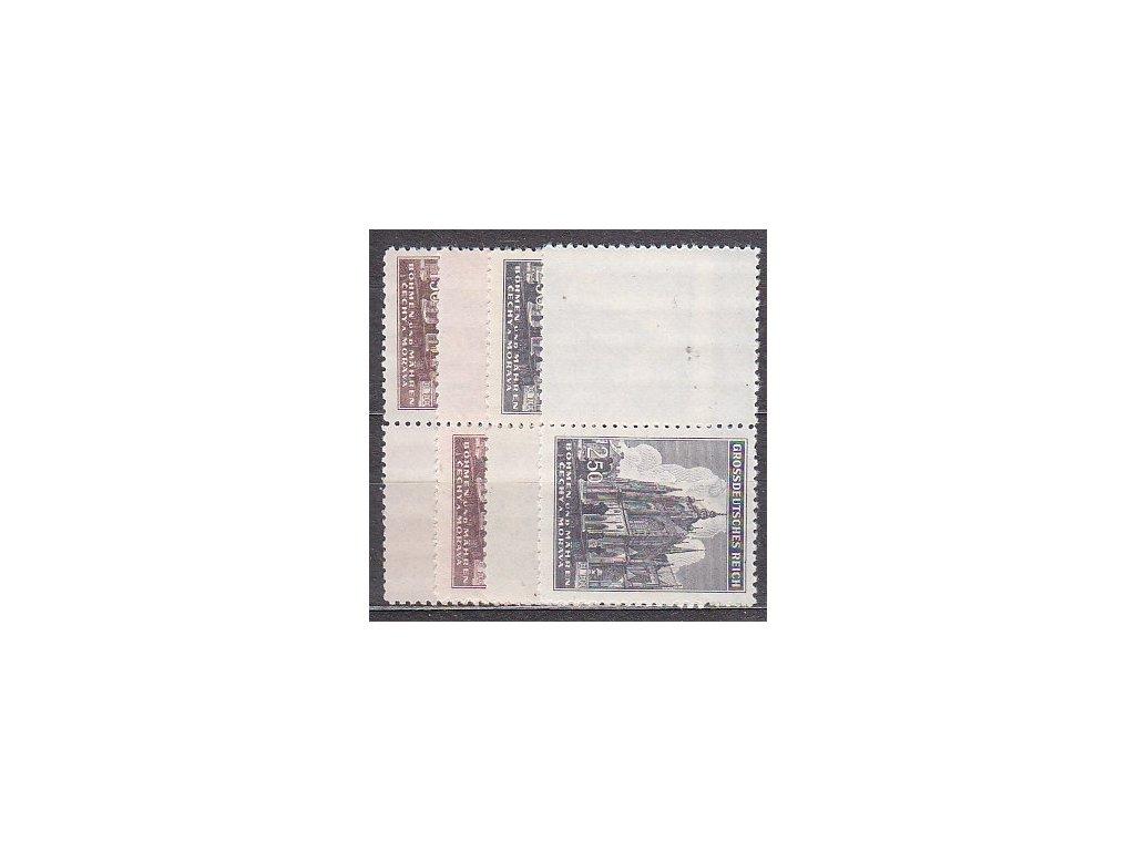 1944, 1.50-2.50K Chrám sv.Víta, levé a pravé kupony bez okraje, Nr.120-1, **