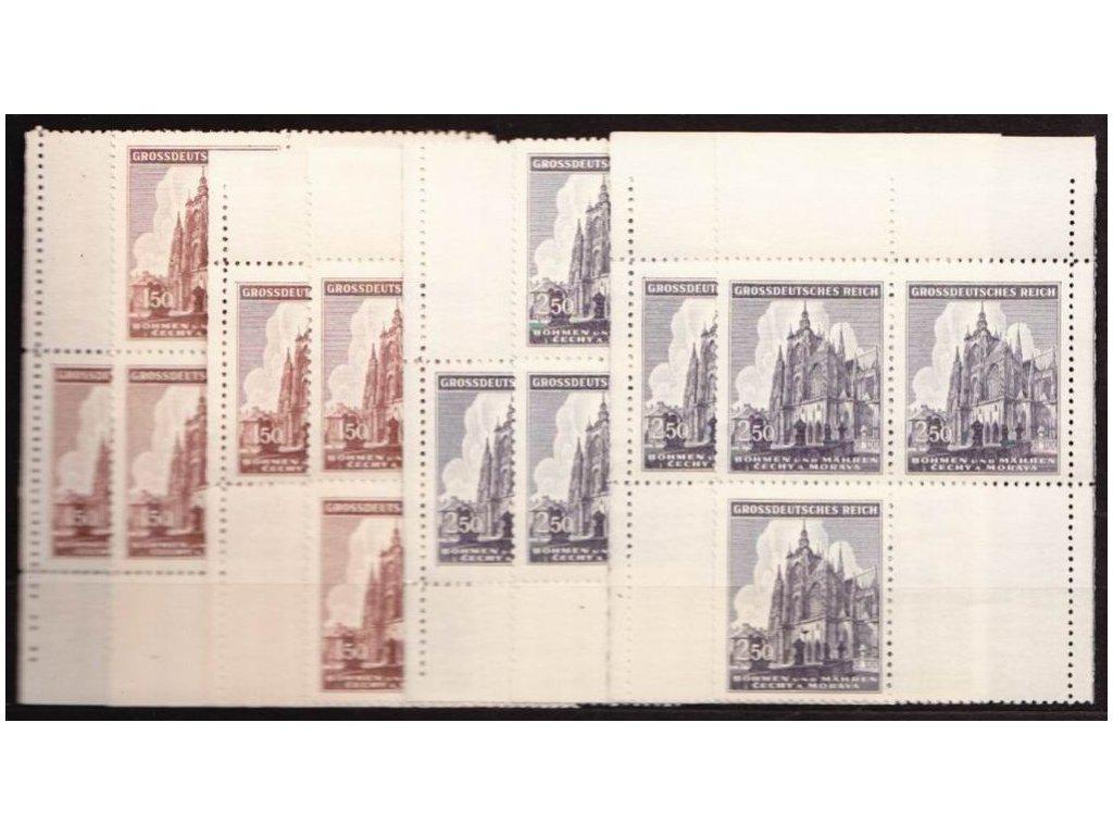 1944, 1.50-2.50K sv.Vít, rohová miniatura, Nr.120-1, **