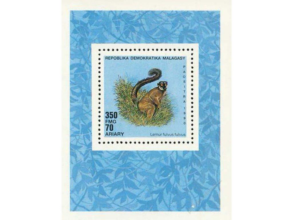 Malagasy, 1990, aršík Fauna, Bl.146, **
