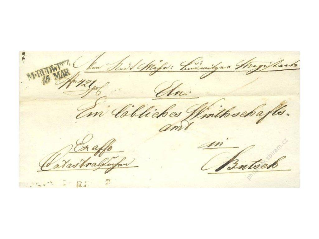 M:Budwitz, skládaný dopis z roku 1846