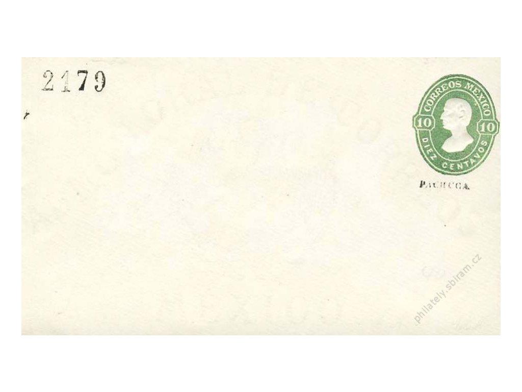 Mexiko, 1910, 10C Hidalgo, celinová obálka, neprošlé
