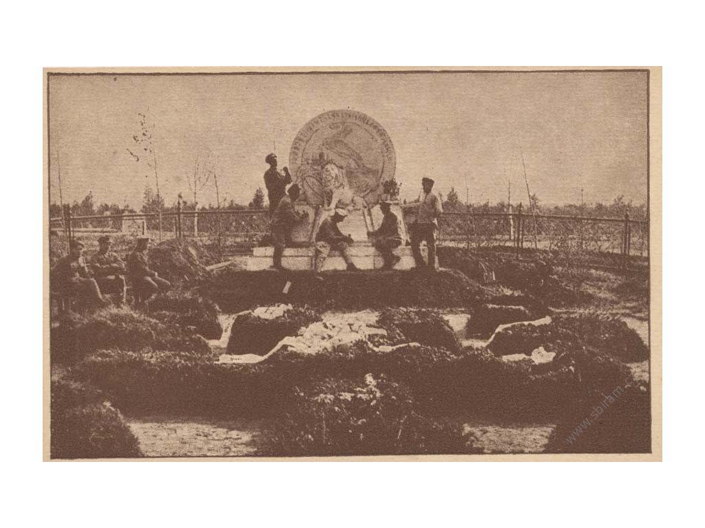 Nižnij-Udinsk, Pomník našich bratří, pohlednice, neprošlé