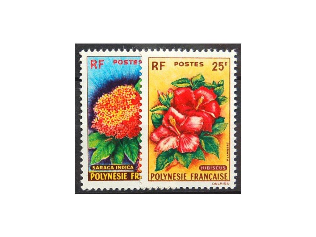 Polynesie, 1962, 15-25Fr série, * po nálepce