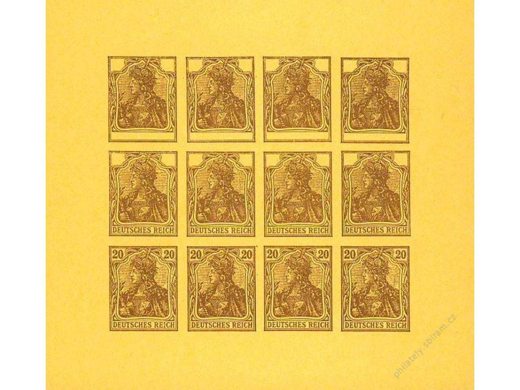 1920, 20Pf Germanie, facsimile na oranžovém papíru