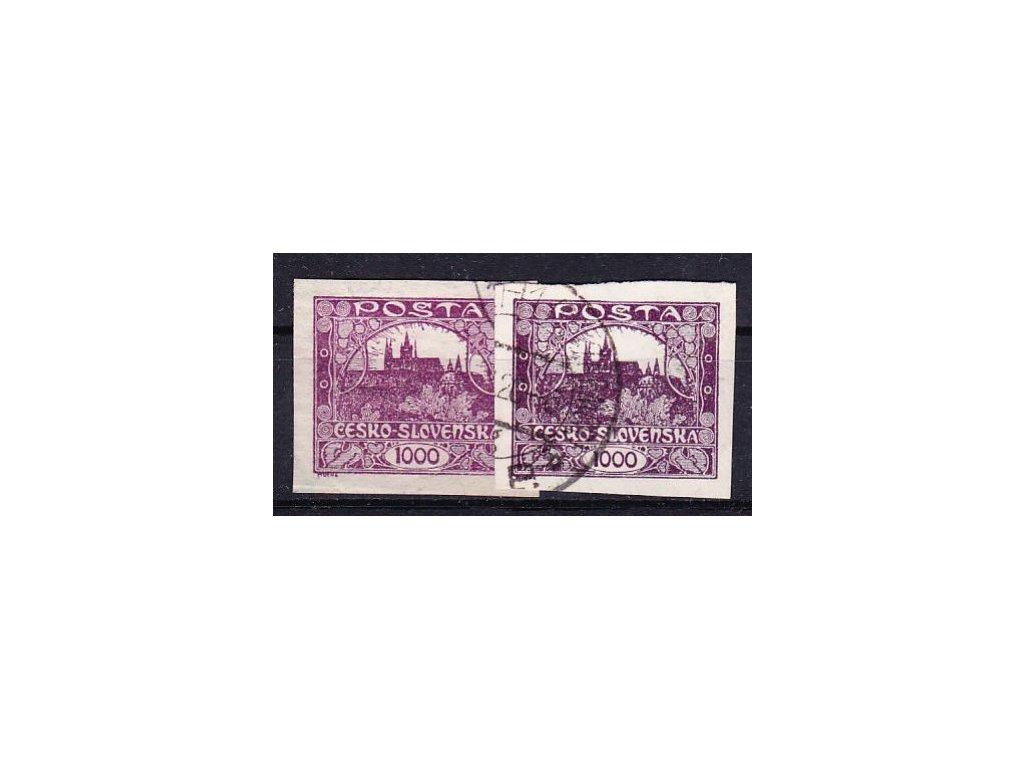 1000h fialová a modrofialová, Nr.26,26a, razítkované, ilustrační foto