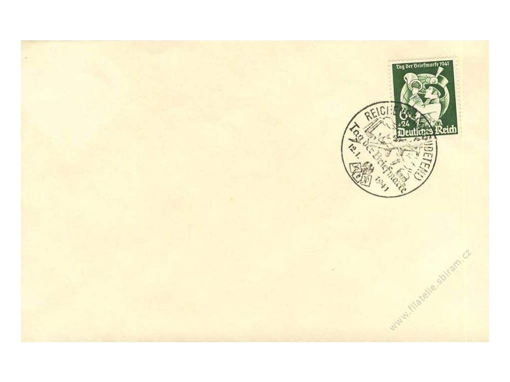 Reichenberg, 1941, Tag der Briefmarke, dopis, neprošlé