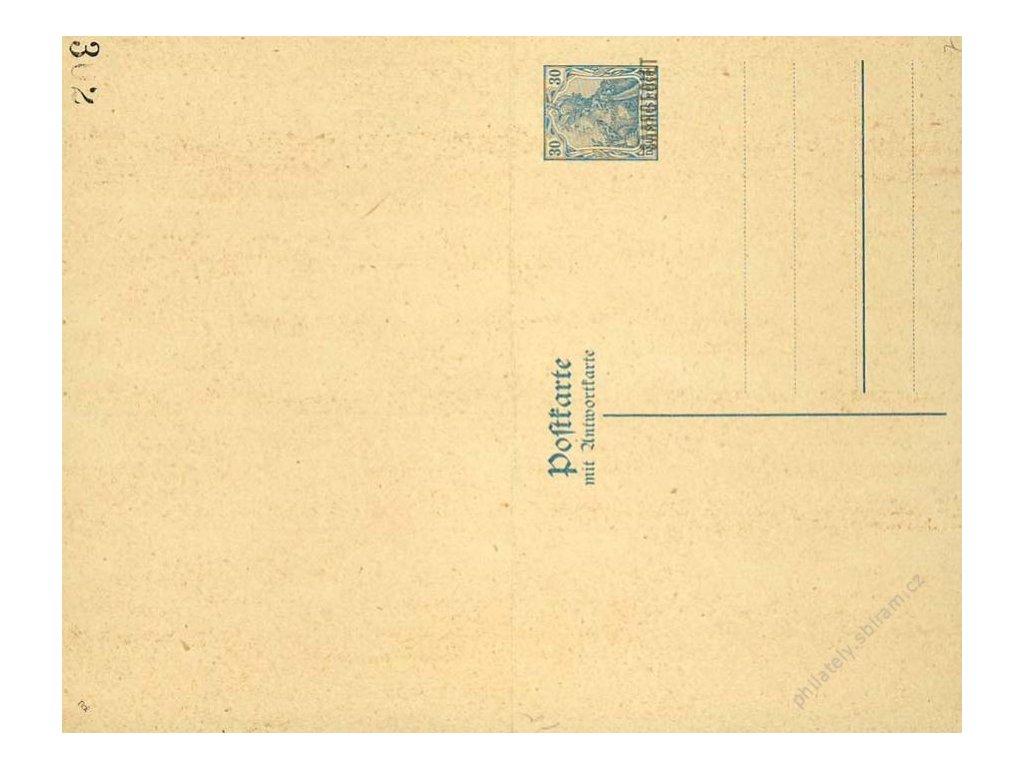 Saar, 1920, dvojitá dopisnice 30Pf Germanie, MiNr.P7, neprošlé