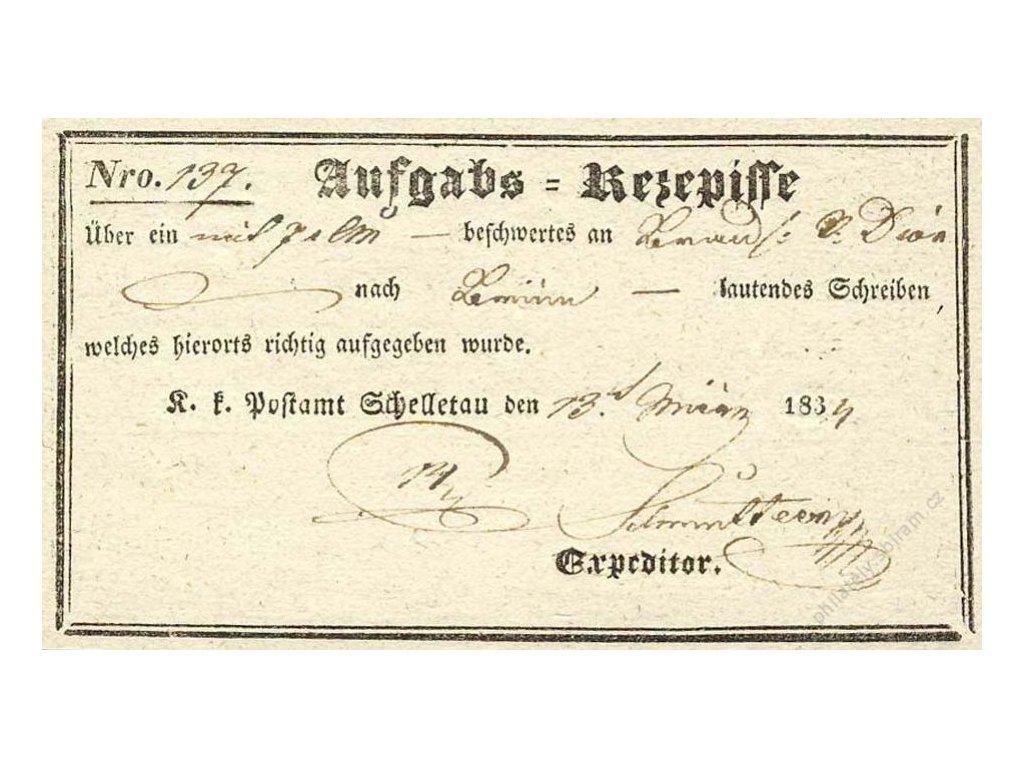Schelletau, recepis z roku 1834, přeloženo