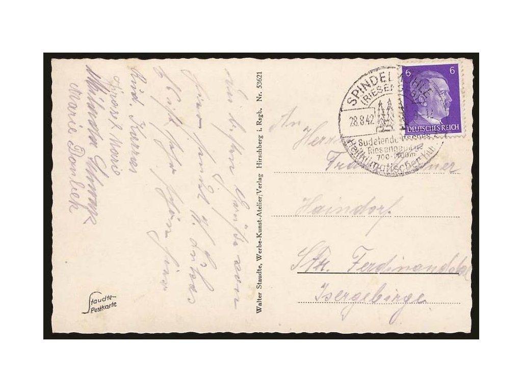 Spindelühle, Riesengeb., 1942, pohlednice, prošlé