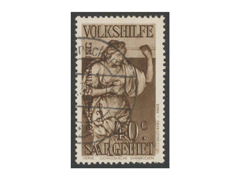 Saar, 1934, 40C Volkshilfe, MiNr.199, razítkované, kz