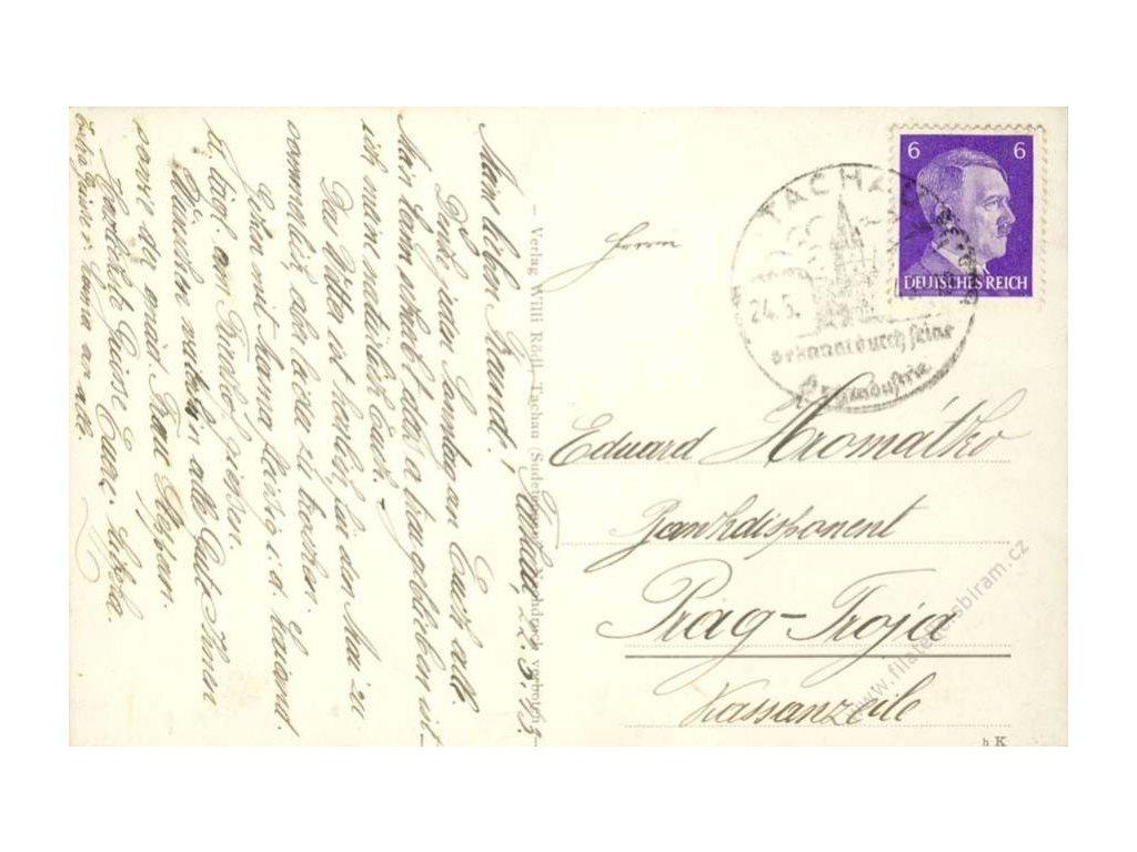 Tachau, 1943, DR Tachau, pohlednice