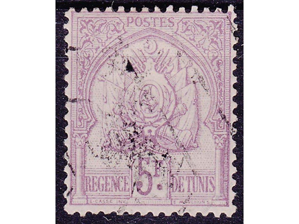 Tunis, 1888, 5Fr Znak, MiNr.17, razítkované