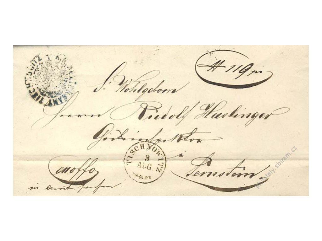 Tischnowitz, skládaný dopis z roku 1861