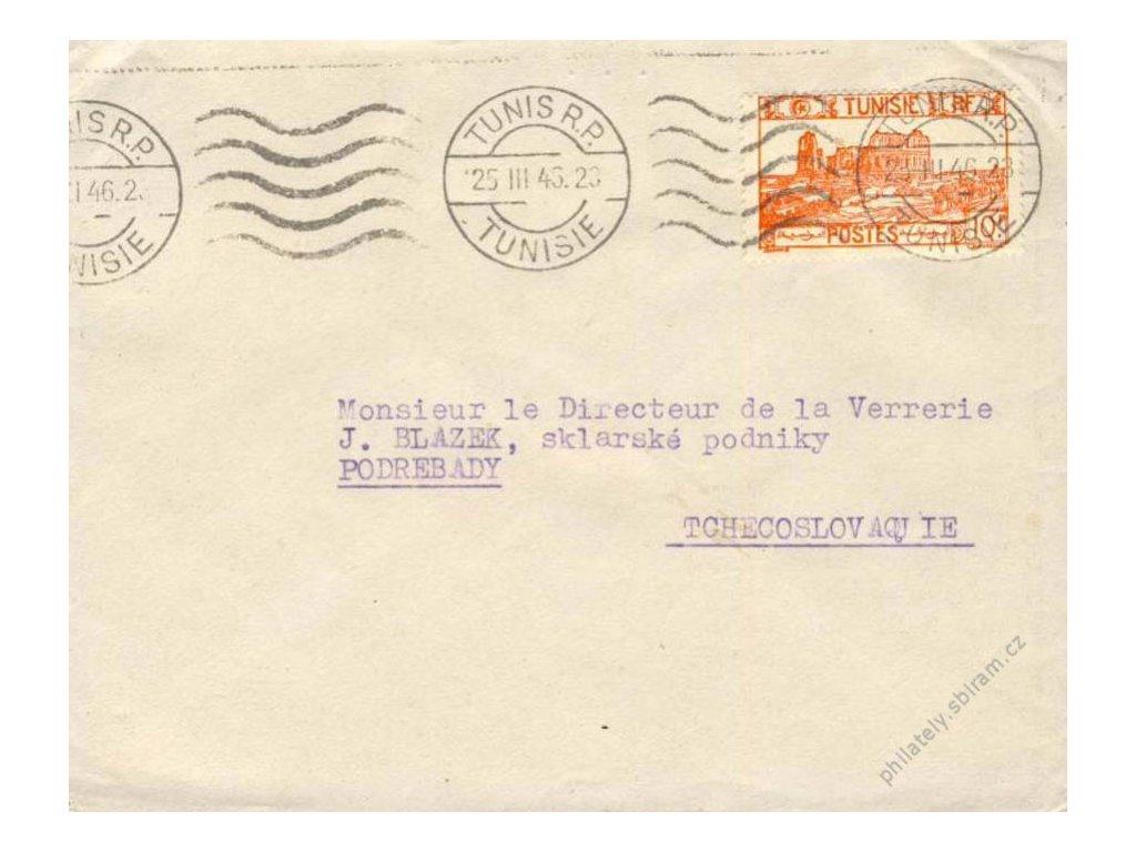 Tunis, 1946, DR Tunis, dopis zasl. do ČSR