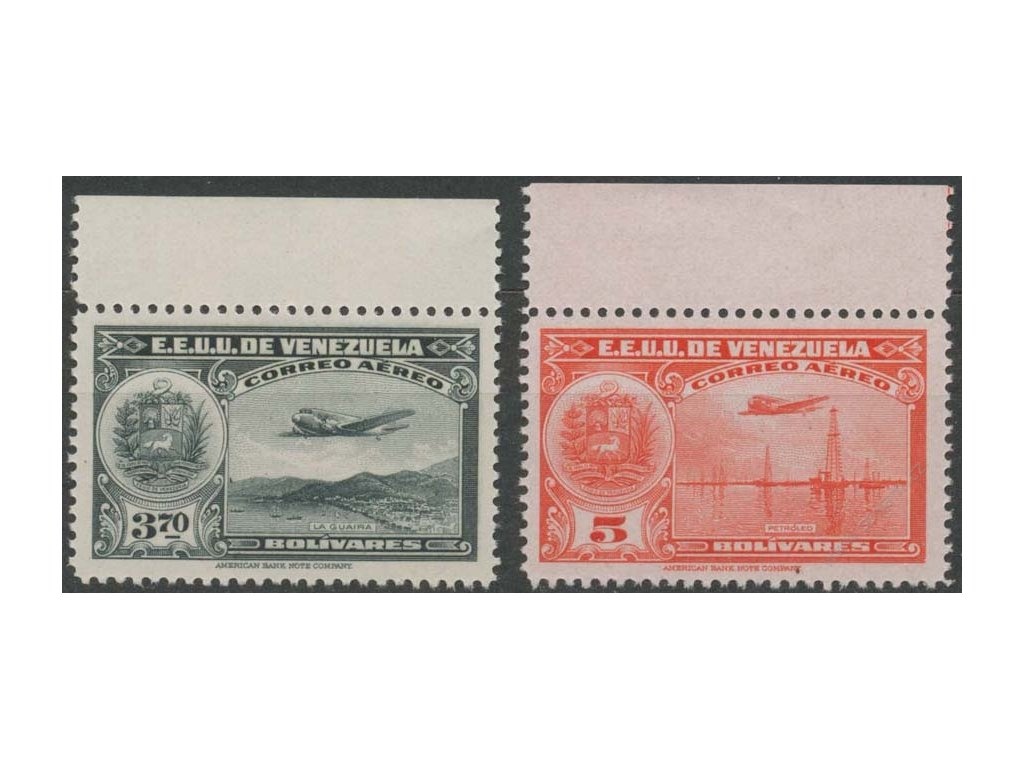 Venezuela, 1938, 3.70 a 5B letecké, **