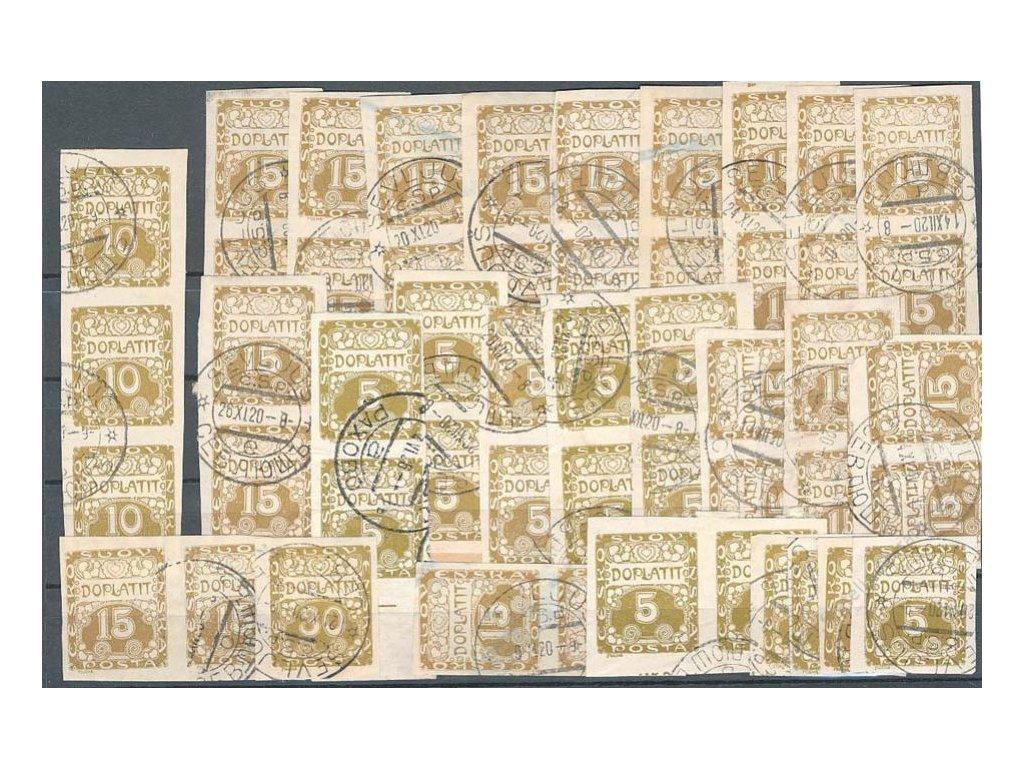 Podkarpatská Rus, 1920, 49 kusů  známek a pásek