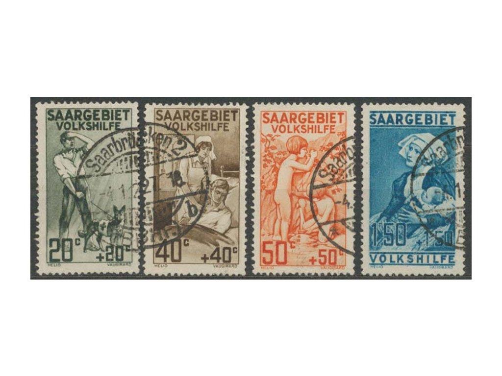 Saar, 1926, 20C-1.50Fr série Volkshilfe, razítkované