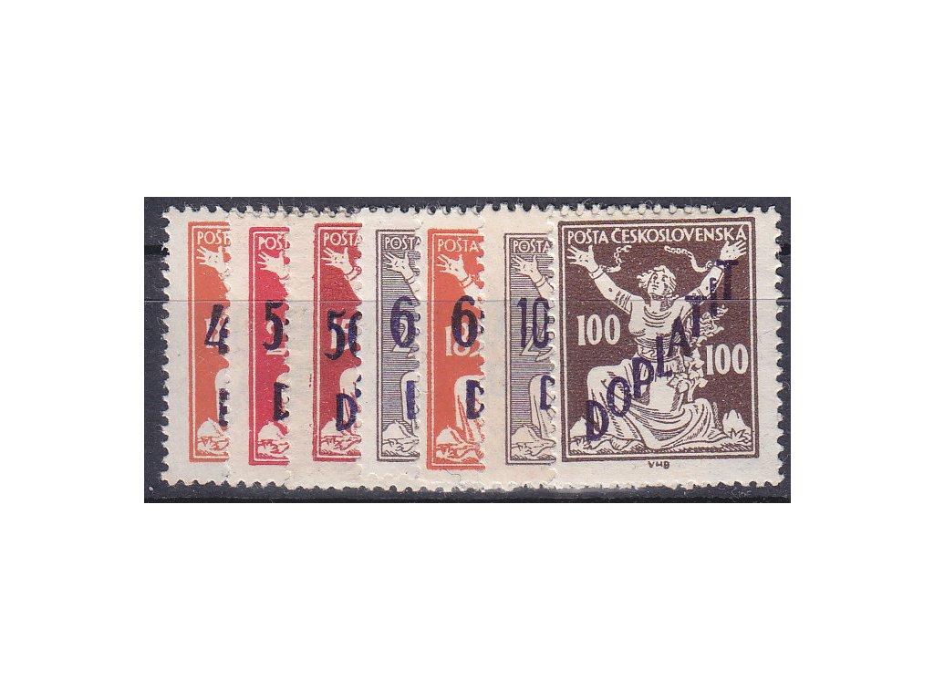 1927, 40/185h-100/25h série, Nr.DL48-54, * po nálepce