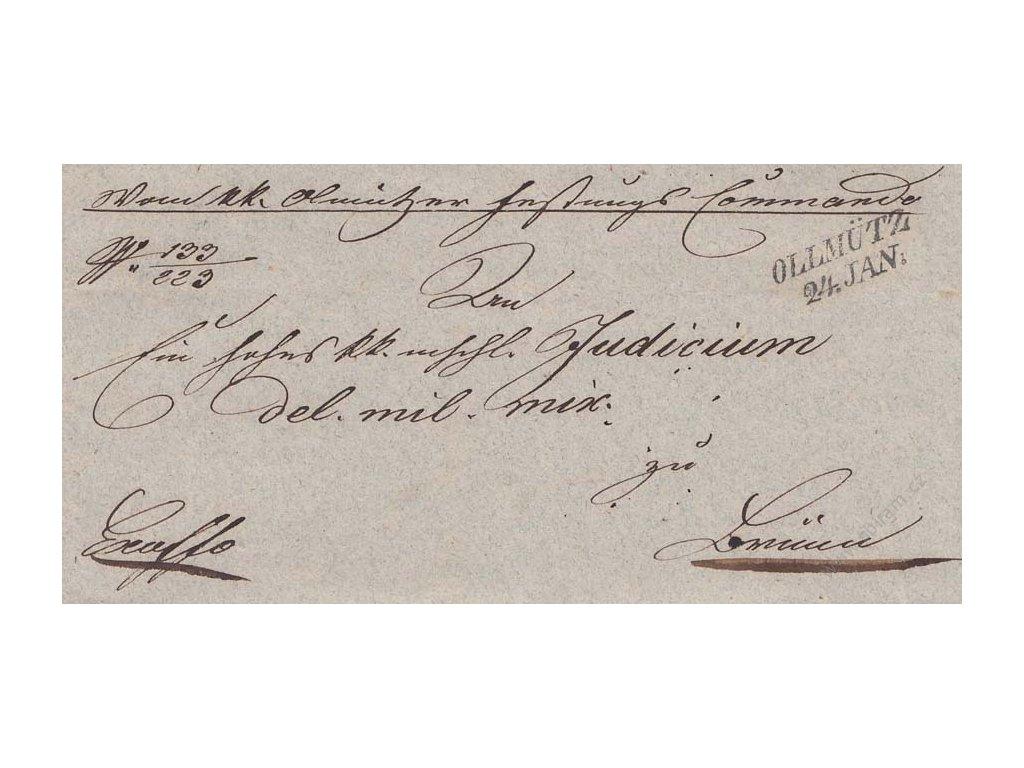 1843, Ollmütz, skládaný vojenský dopis