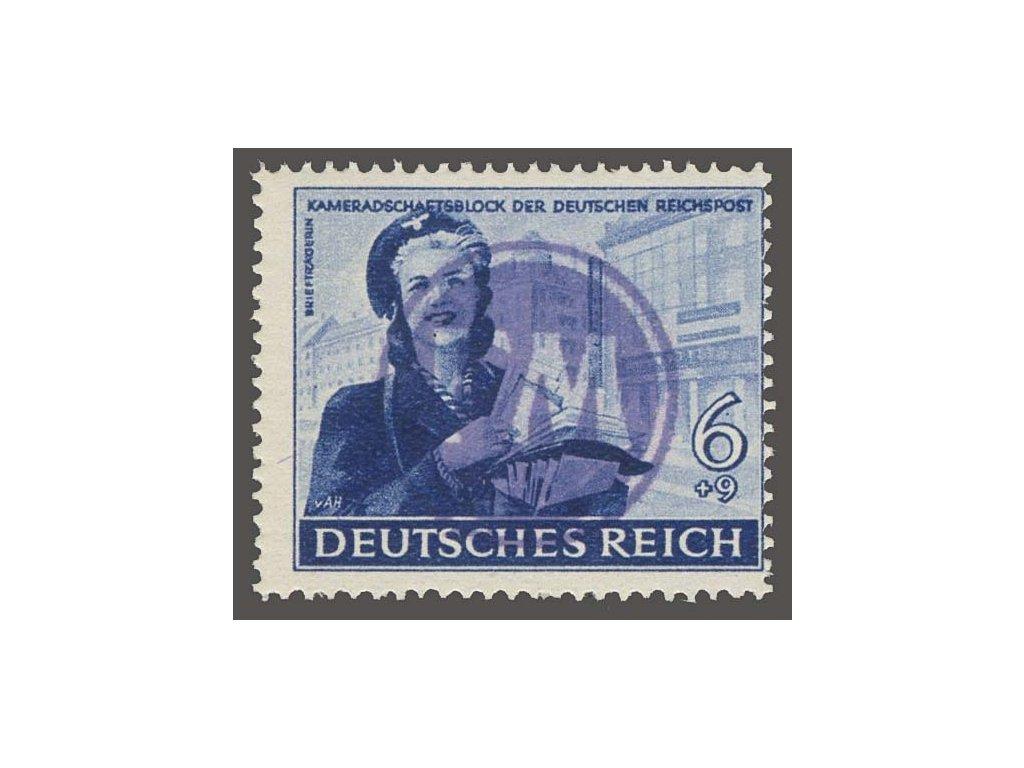 Fredersdorf, 1945, přetisk FM na známce 6Pf, ** , bez záruky