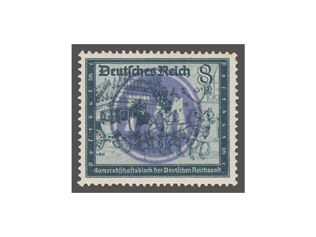 Fredersdorf, 1945, přetisk FM na známce 8Pf, ** , bez záruky