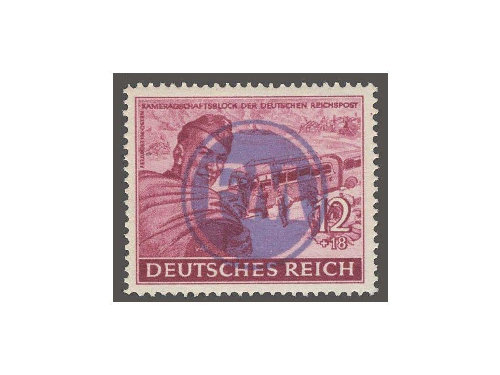 Fredersdorf, 1945, přetisk FM na známce 12Pf, ** , bez záruky