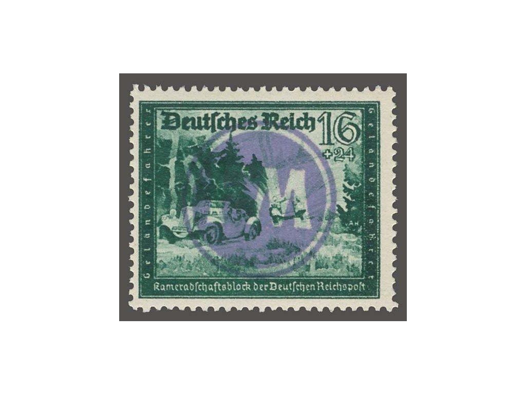 Fredersdorf, 1945, přetisk FM na známce 16Pf, ** , bez záruky