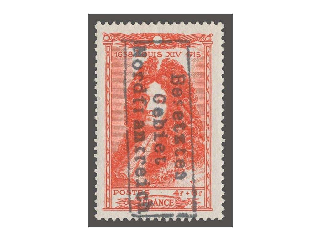 Francie, 1944, 4Fr s přetiskem Nordfranrreich, ** , bez záruky