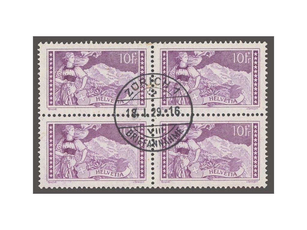 1914, 10Fr Helvetia, 4blok, MiNr.123, razítkované